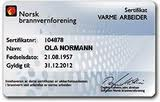 varme arbeider sertifikat